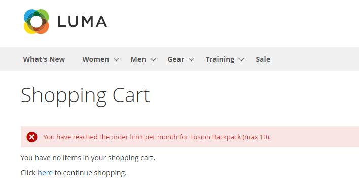 product order limit